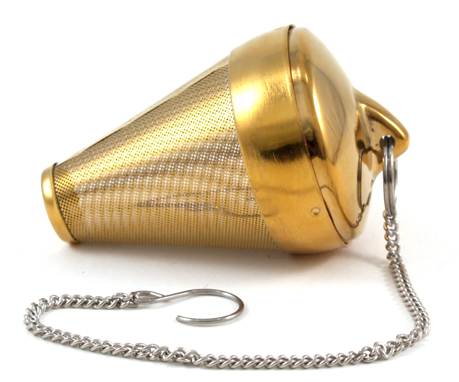 Frieling Gold Tone Foil Coated Stainless Steel Tea Cone