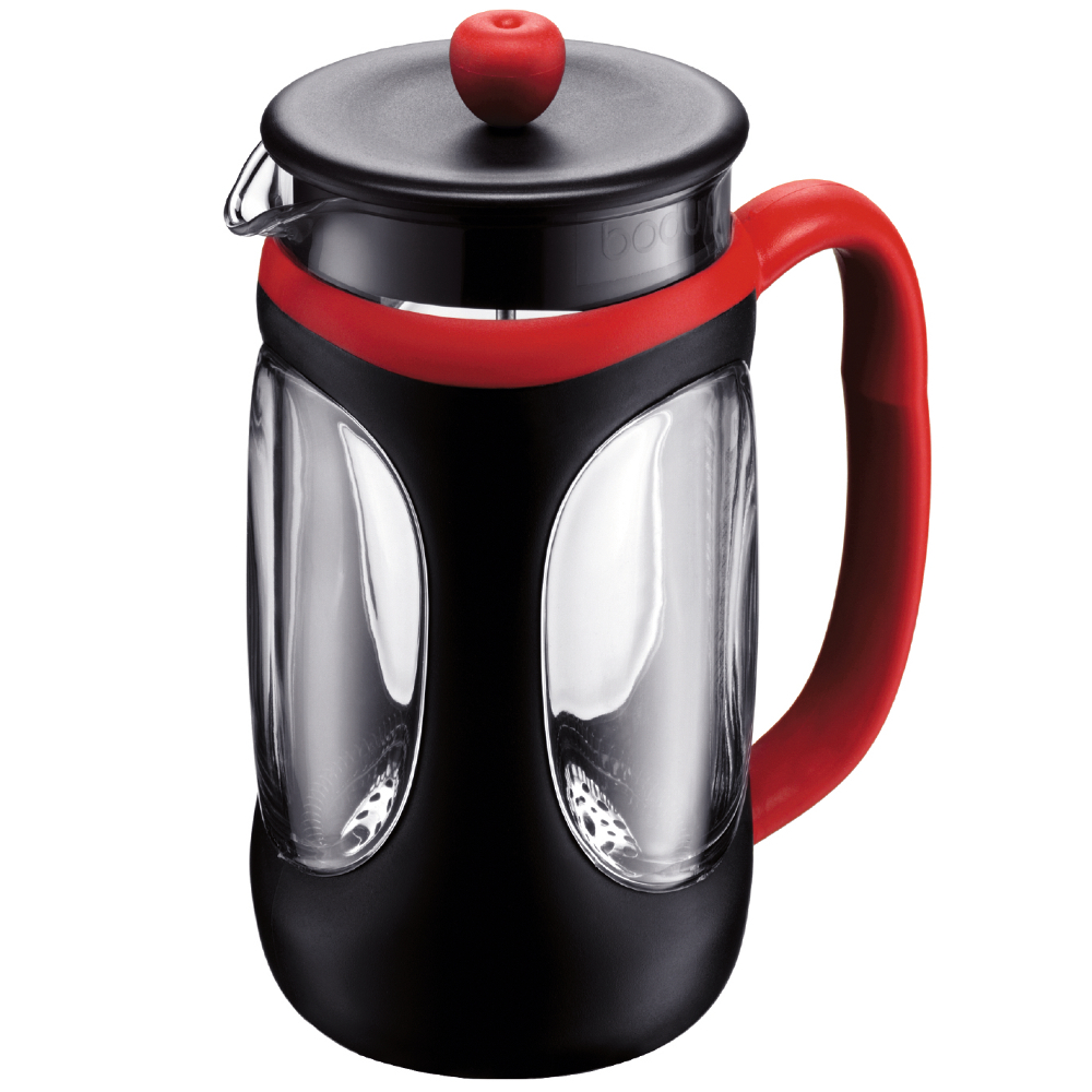 Bodum Young Black and Red French Press Coffee Maker, 8 Cup