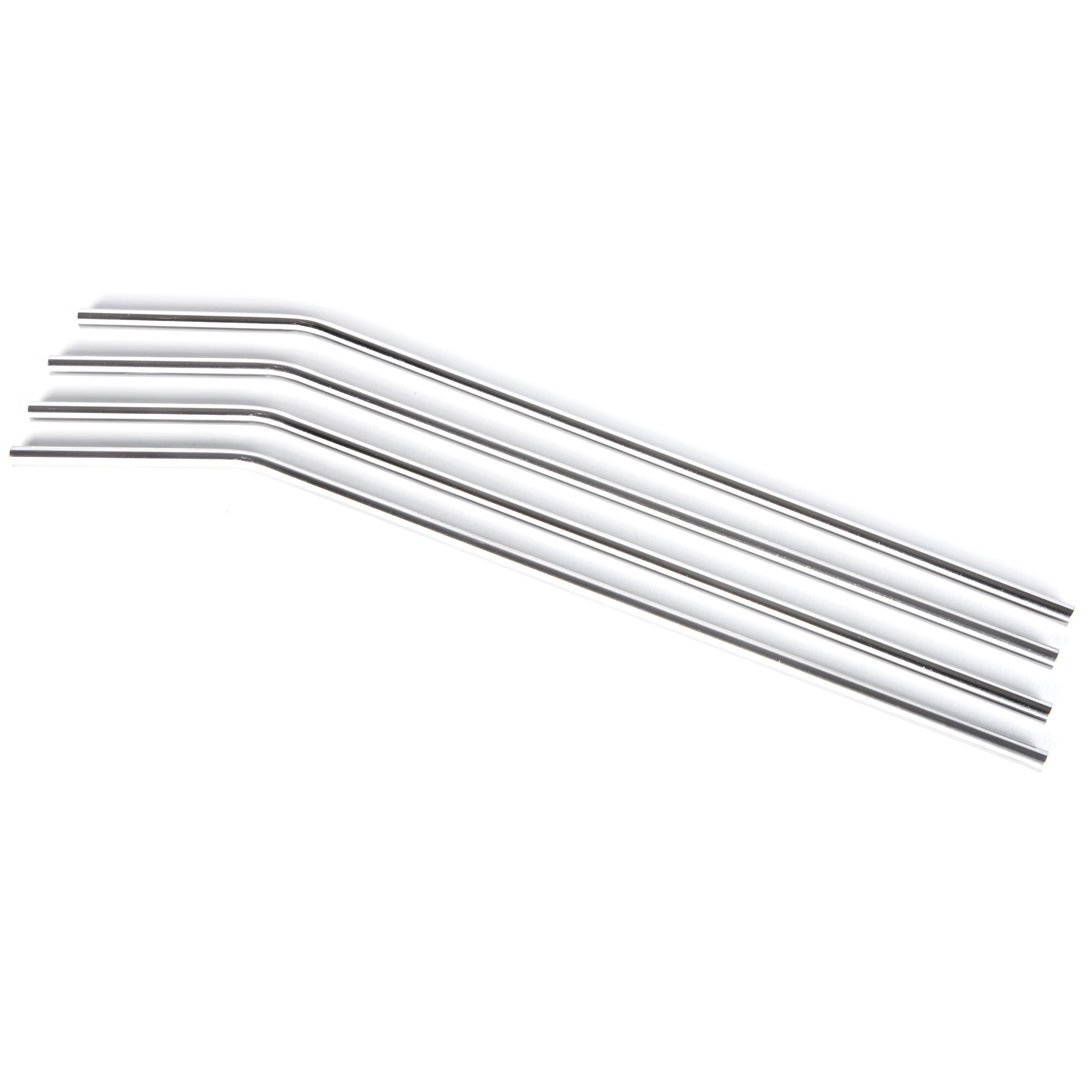Onyx 18/8 Stainless Steel 4 Piece Large Straw Set