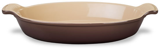 Le Creuset Heritage Truffle Stoneware Petite Au Gratin Dish, 6 Ounce