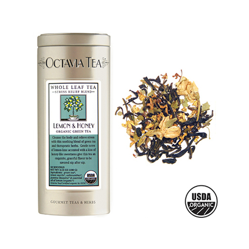 Octavia Lemon and Honey Organic Green Tea Loose