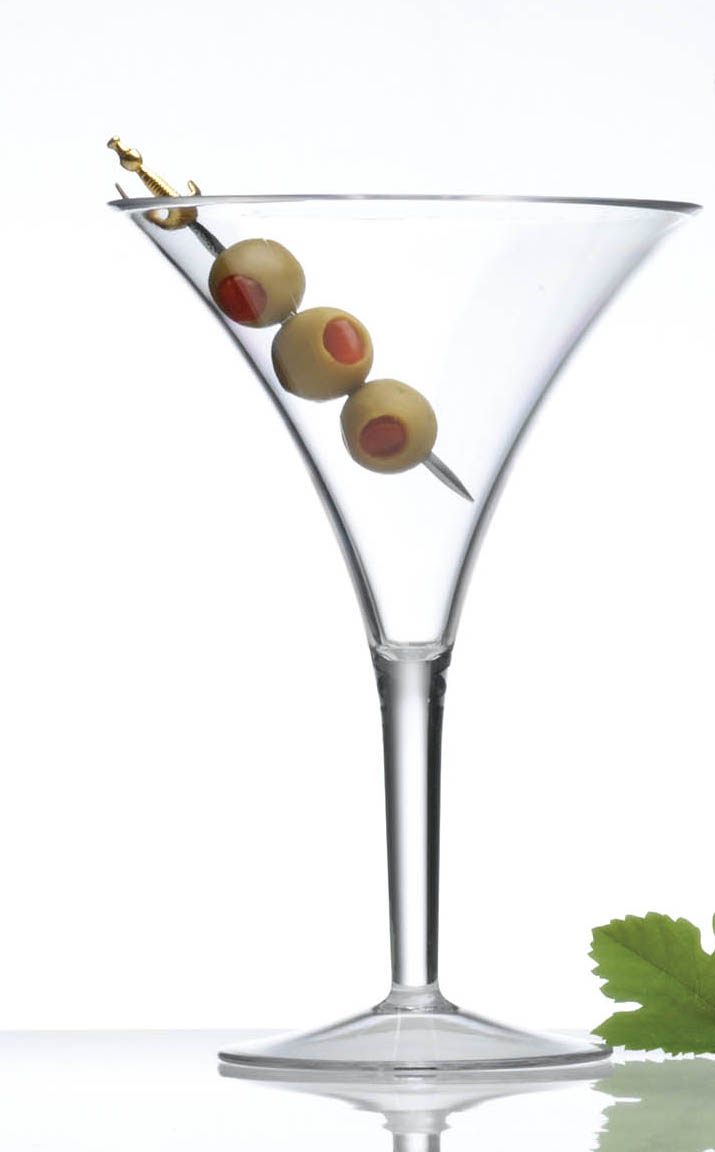 Prodyne Forever Grand Clear Polycarbonate Martini Glass, 10 Ounce