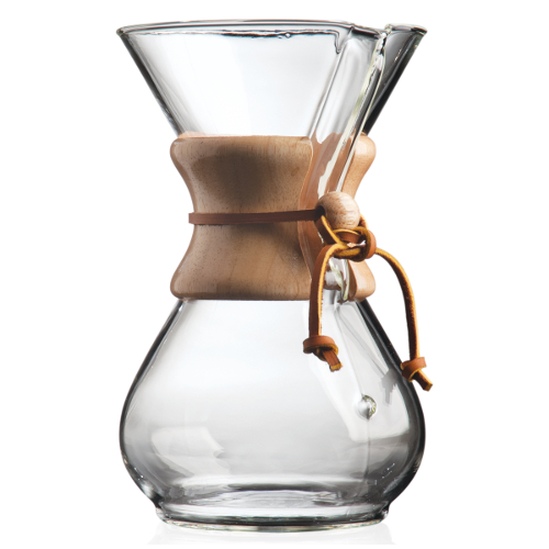 Chemex Classic Glass Coffee Maker with Wood Collar and Tie, 30 Ounce
