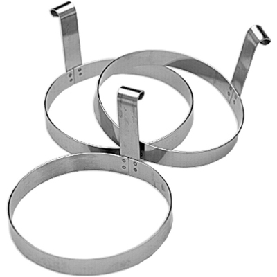 Stainless Steel 3 Piece Egg Ring Set