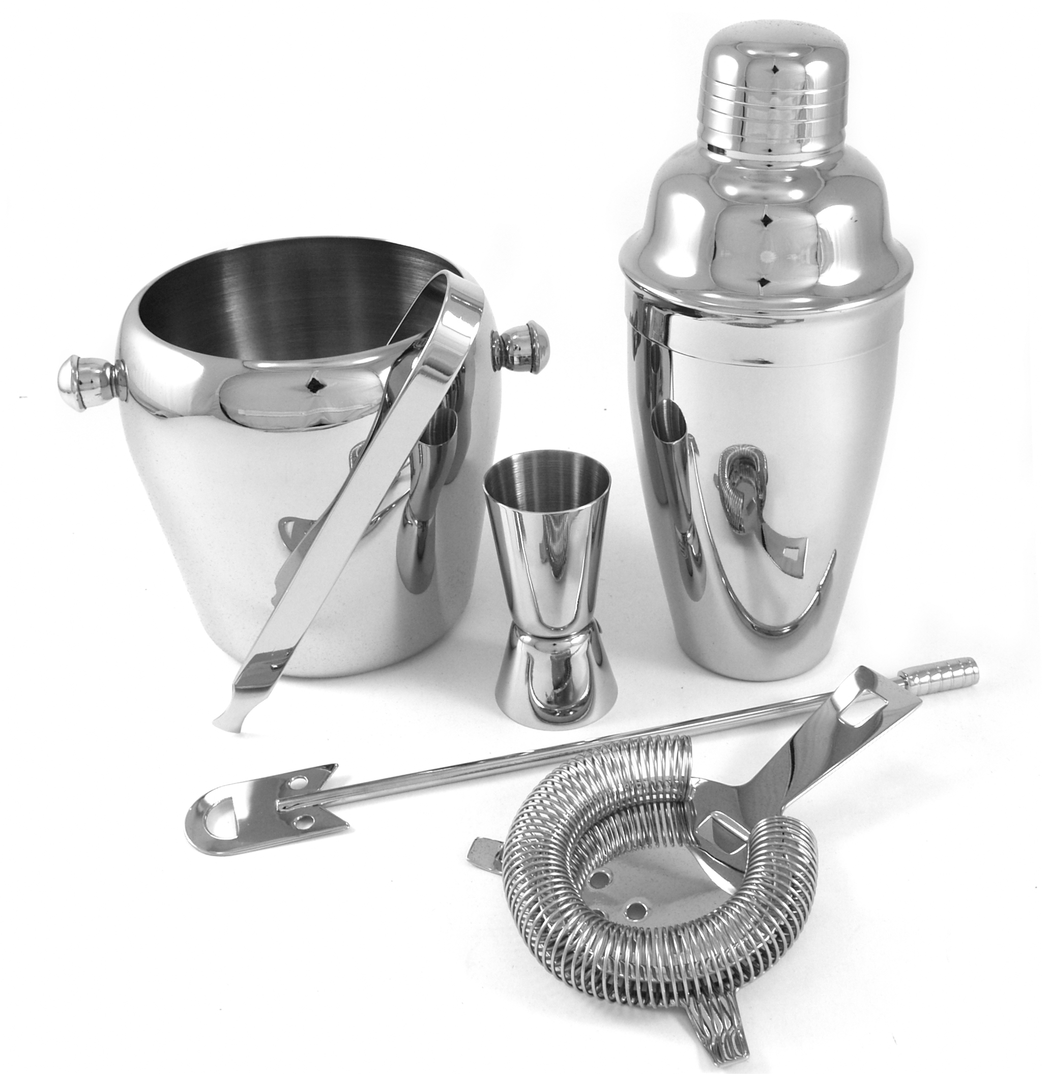 6 Piece Stainless Steel Bar Set