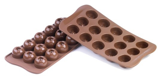 Silikomart Stampo Brown Silicone Imperial Chocolate Mold, 15 Piece