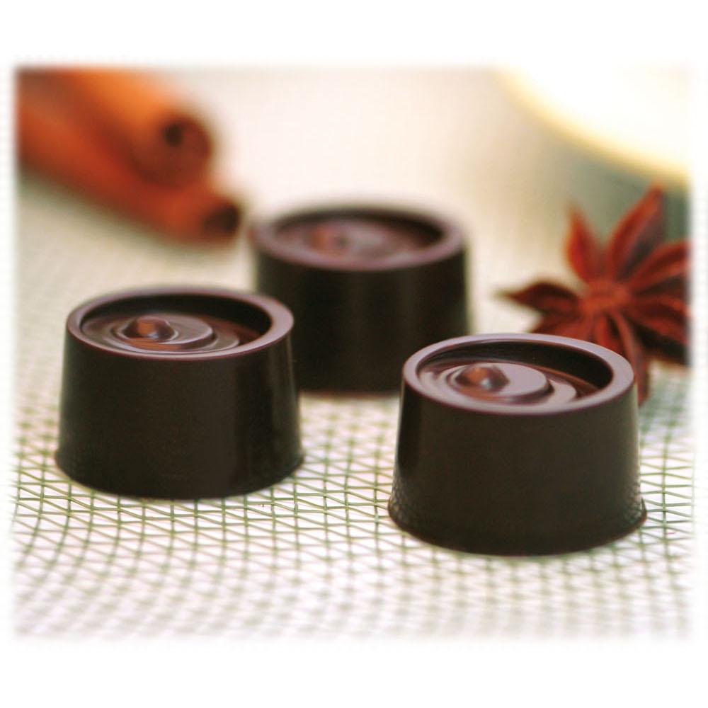 Silikomart Stampo Brown Silicone Vertigo Chocolate Mold, 15 Piece