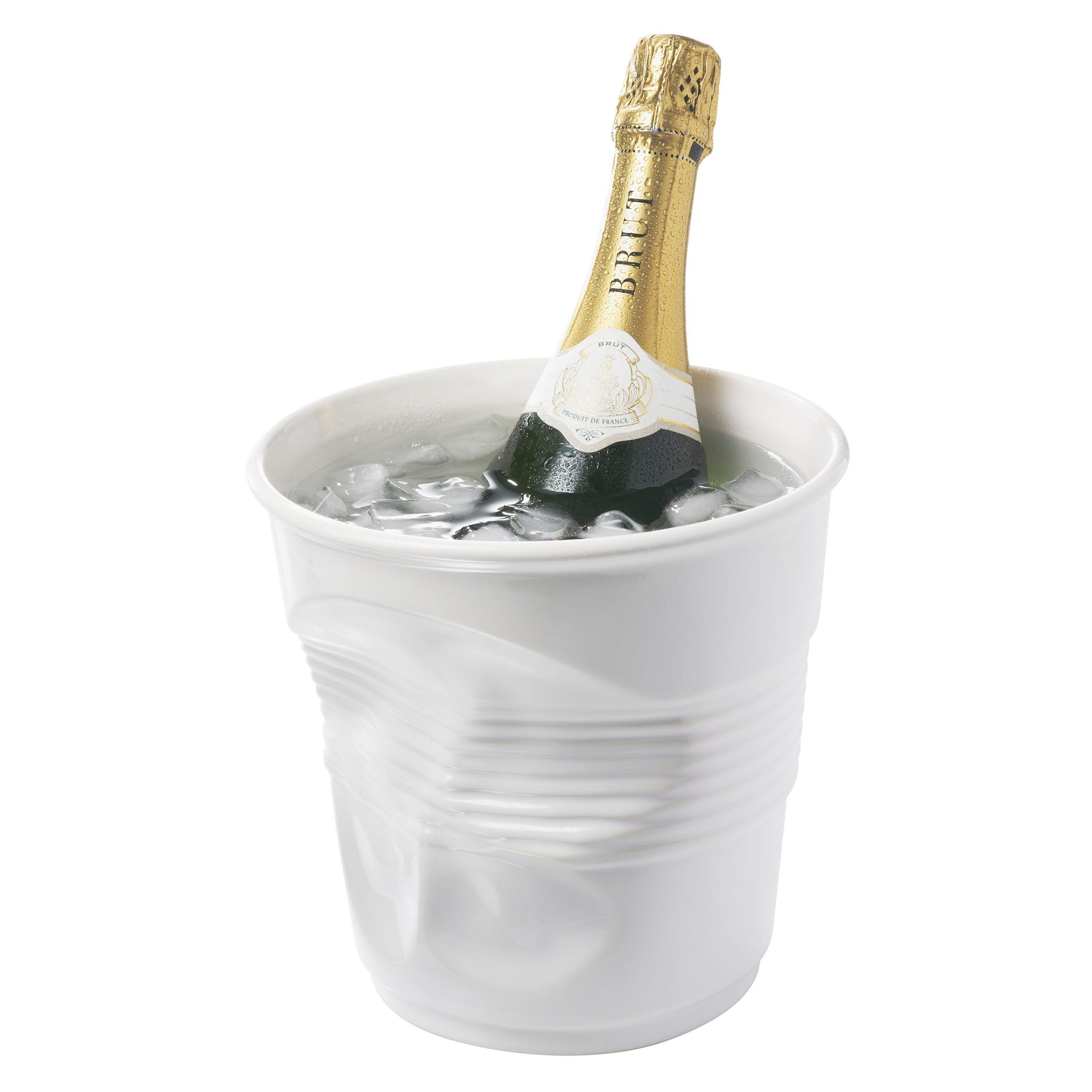 Revol Froisses White Porcelain Crumple Champagne Bucket