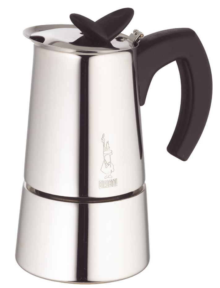 Bialetti Musa 18/10 Stainless Steel Stovetop 6 Cup Espresso Maker
