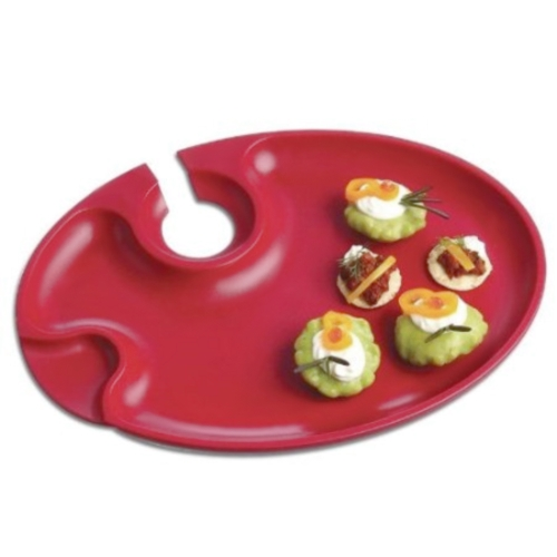Prodyne Red Wine And Dine Party Plate