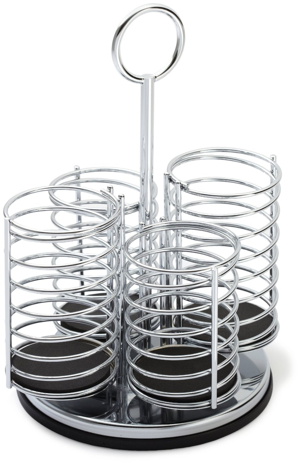 Prodyne 4 Compartment Stainless Steel Flatware Caddy