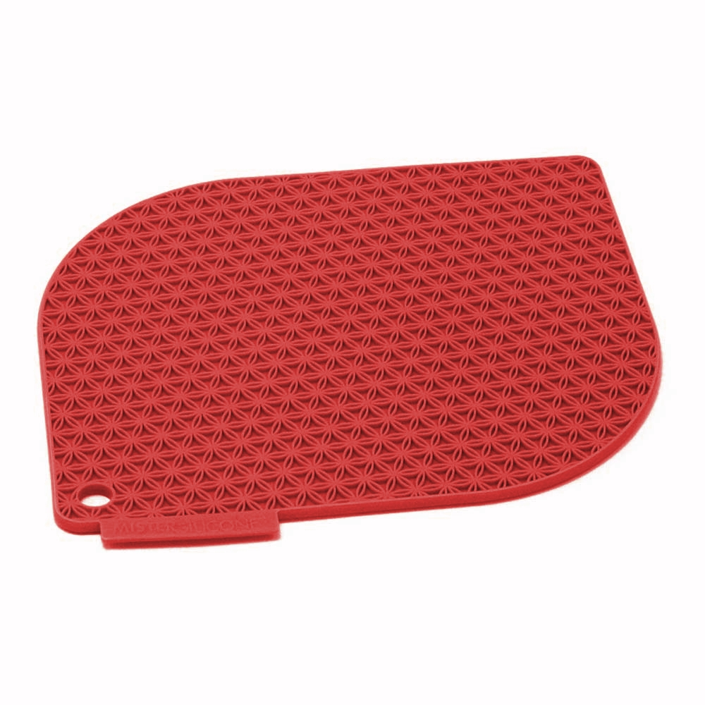 Charles Viancin Honeycomb Red Silicone Pot Holder