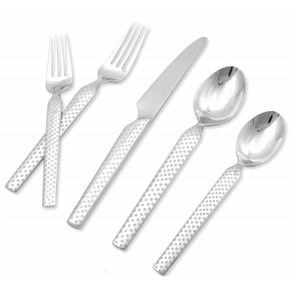 Skandia Vail Mirror Finish 18/10 Stainless Steel 20 Piece Flatware Set, Service for 4