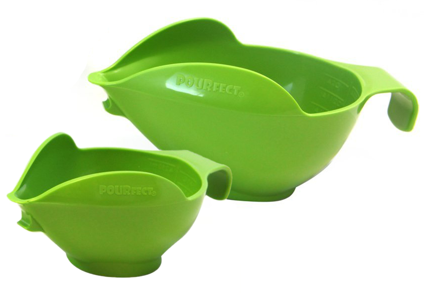 Pourfect Green Apple Prep Bowls, Set of 2