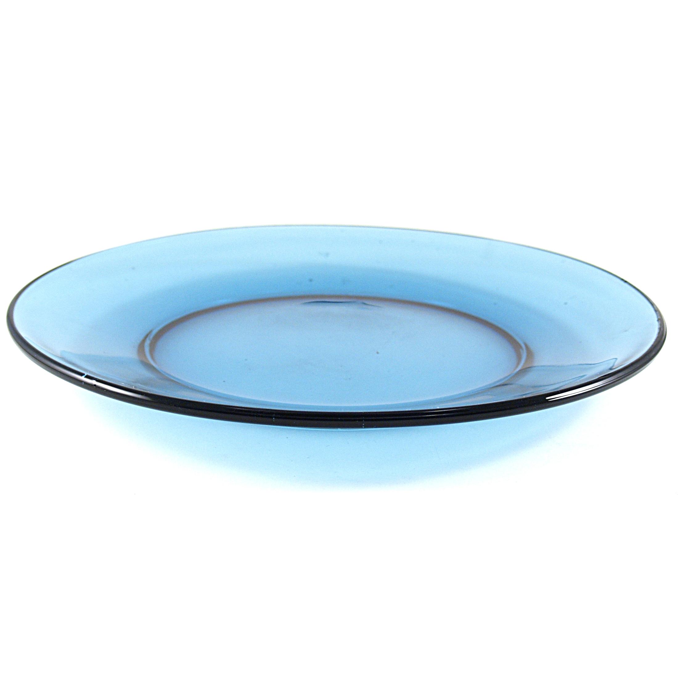 Mainstays Presence Denim Blue Glass 10 Inch Dinner Plate