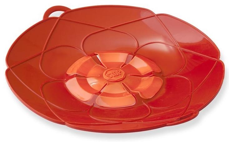 Kuhn Rikon Kochblume Red Silicone Spill Stopper, 12 Inch