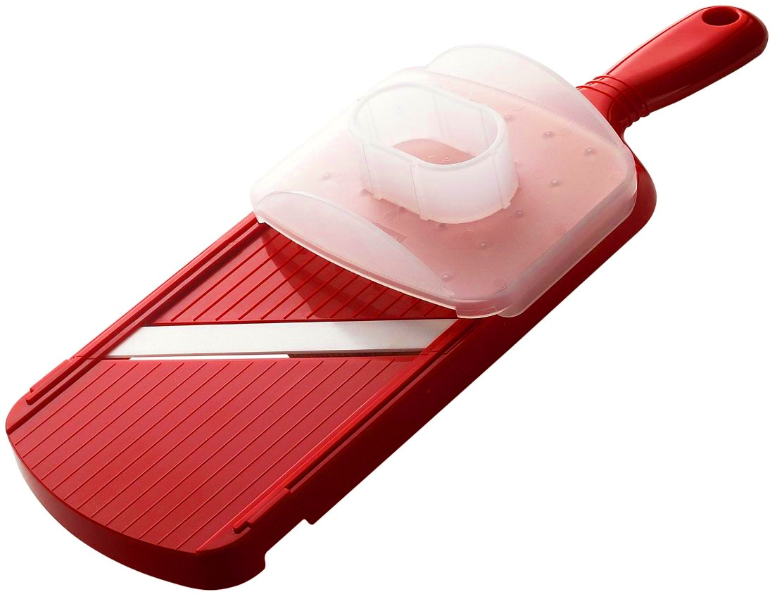 Kyocera Double Edged Red Ceramic Slicer with Guard