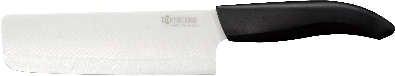 Kyocera Revolution White Bladed Ceramic Nakiri Vegetable Cleaver, 6 Inch