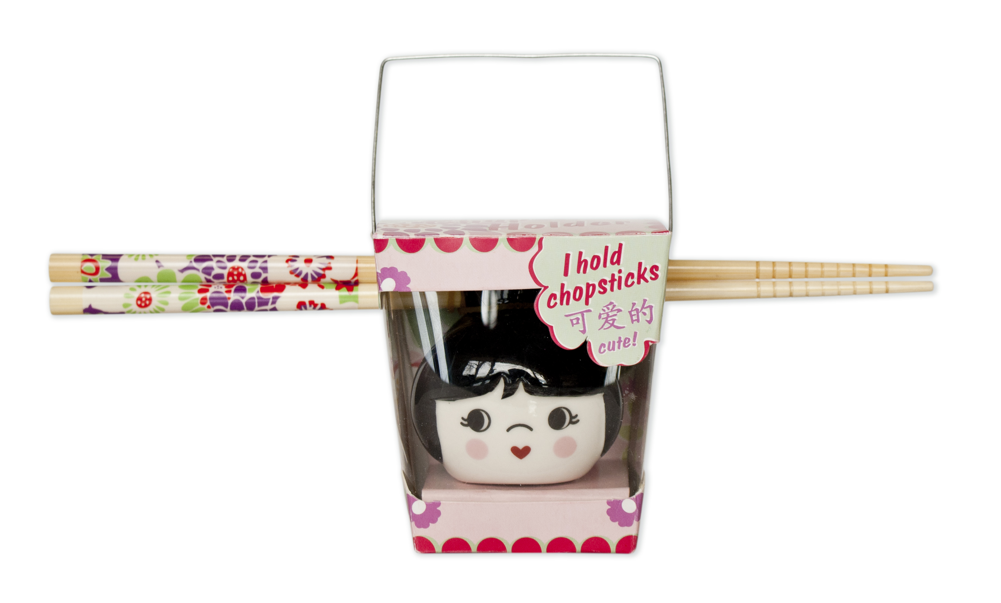 Talisman Designs Cutie Pie Black Chopstick Holder