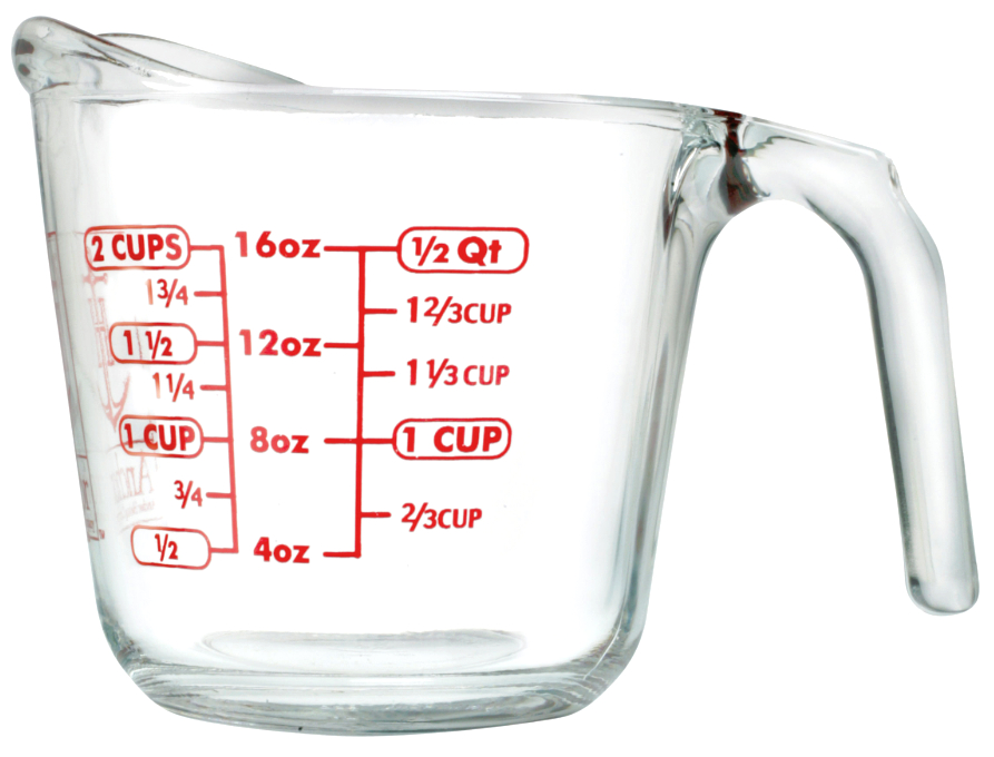 Anchor Hocking Glass Open Handle Measuring Cup, 16 Ounce