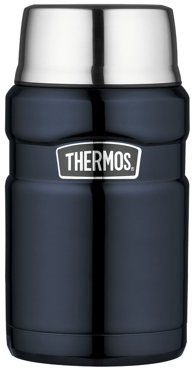 Thermos King Vacuum Insulated Midnight Blue Stainless Steel Food Jar, 24 Ounce