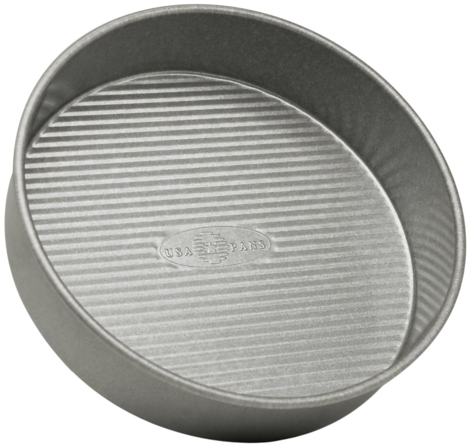 USA Pan Round Aluminized Steel Cake Pan, 8 Inch