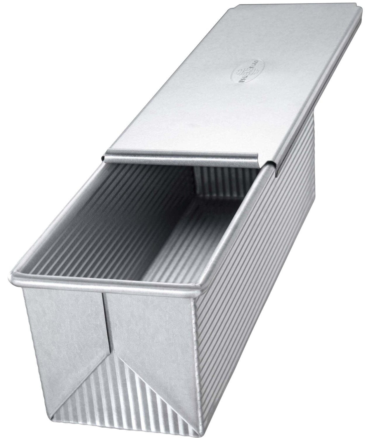 USA Pan Aluminized Steel Pullman Loaf Pan with Cover, 9 Inch