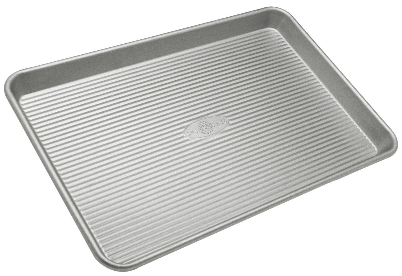 USA Pan Aluminized Steel Jellyroll Pan, 15 Inch
