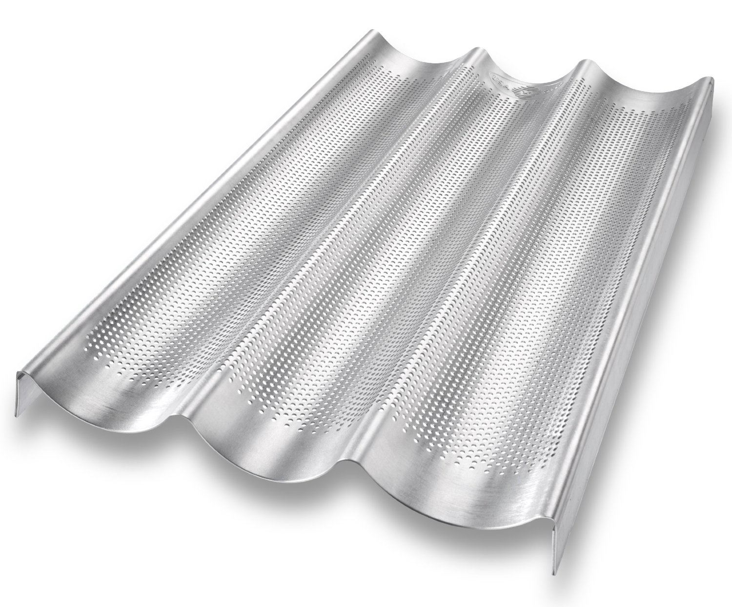 USA Pan Aluminized Steel 3 Loaf French Baguette Pan