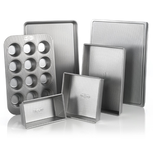 USA Pan Aluminized Steel 6 Piece Bakeware Set