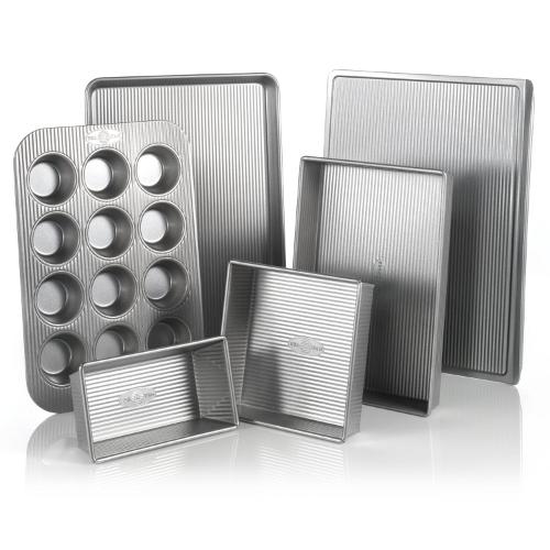USA Pan Aluminized Steel 6 Piece Bakeware Set