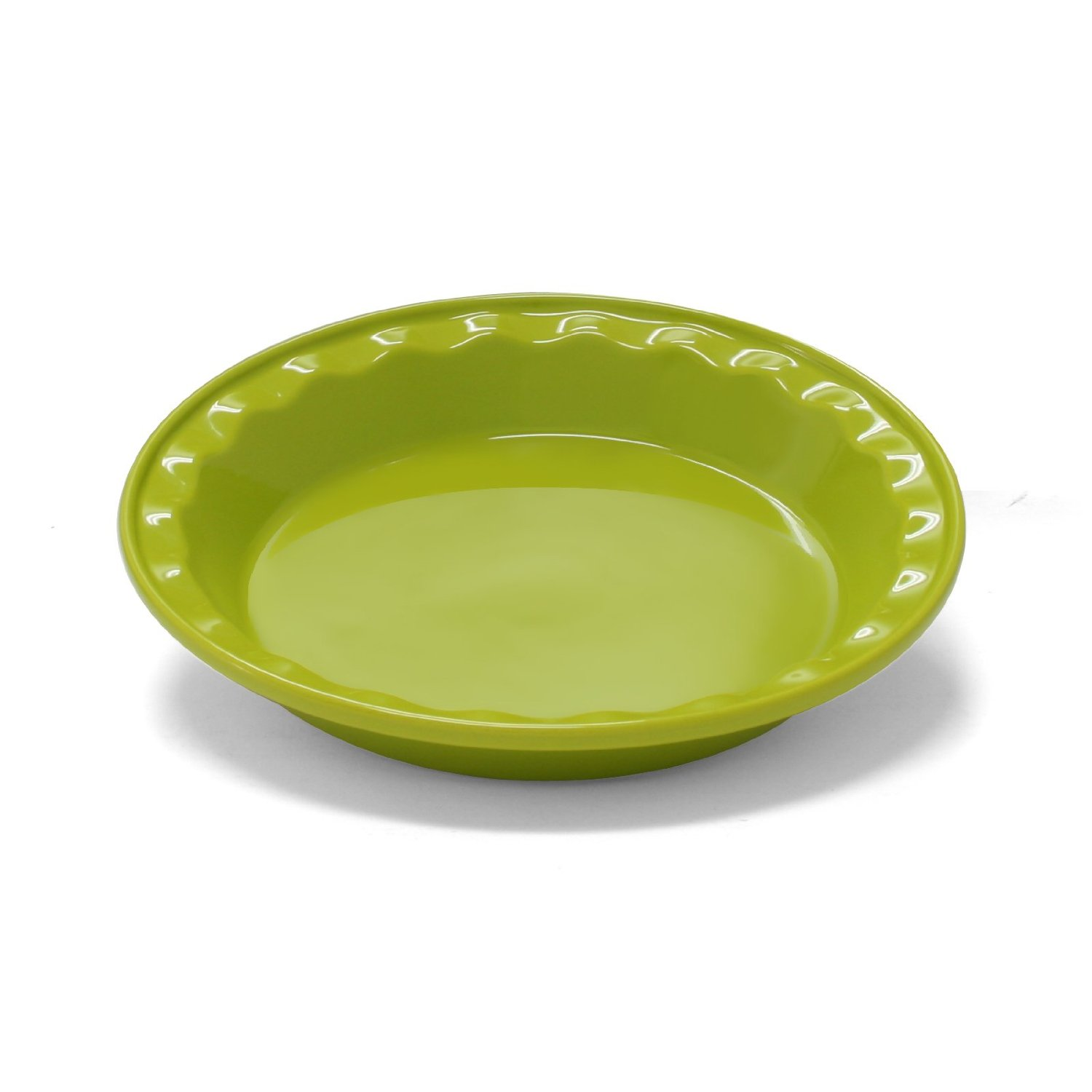 Chantal Easy as Pie Lime Green Stoneware Pie Pan, 9 Inch