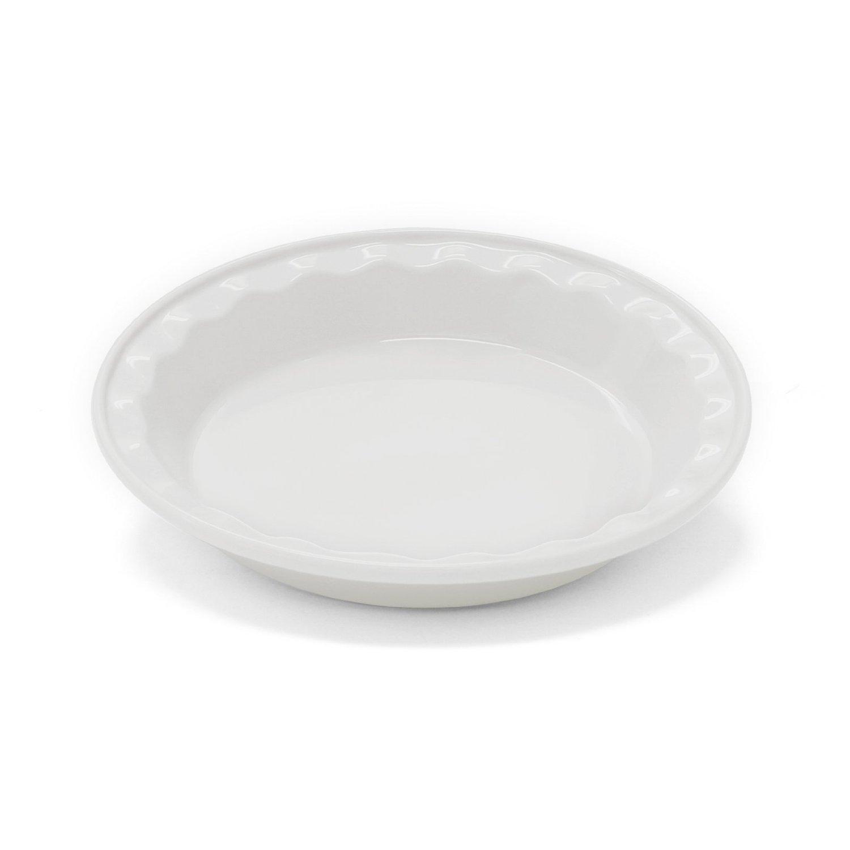 Chantal Easy as Pie White Stoneware Pie Pan, 9 Inch