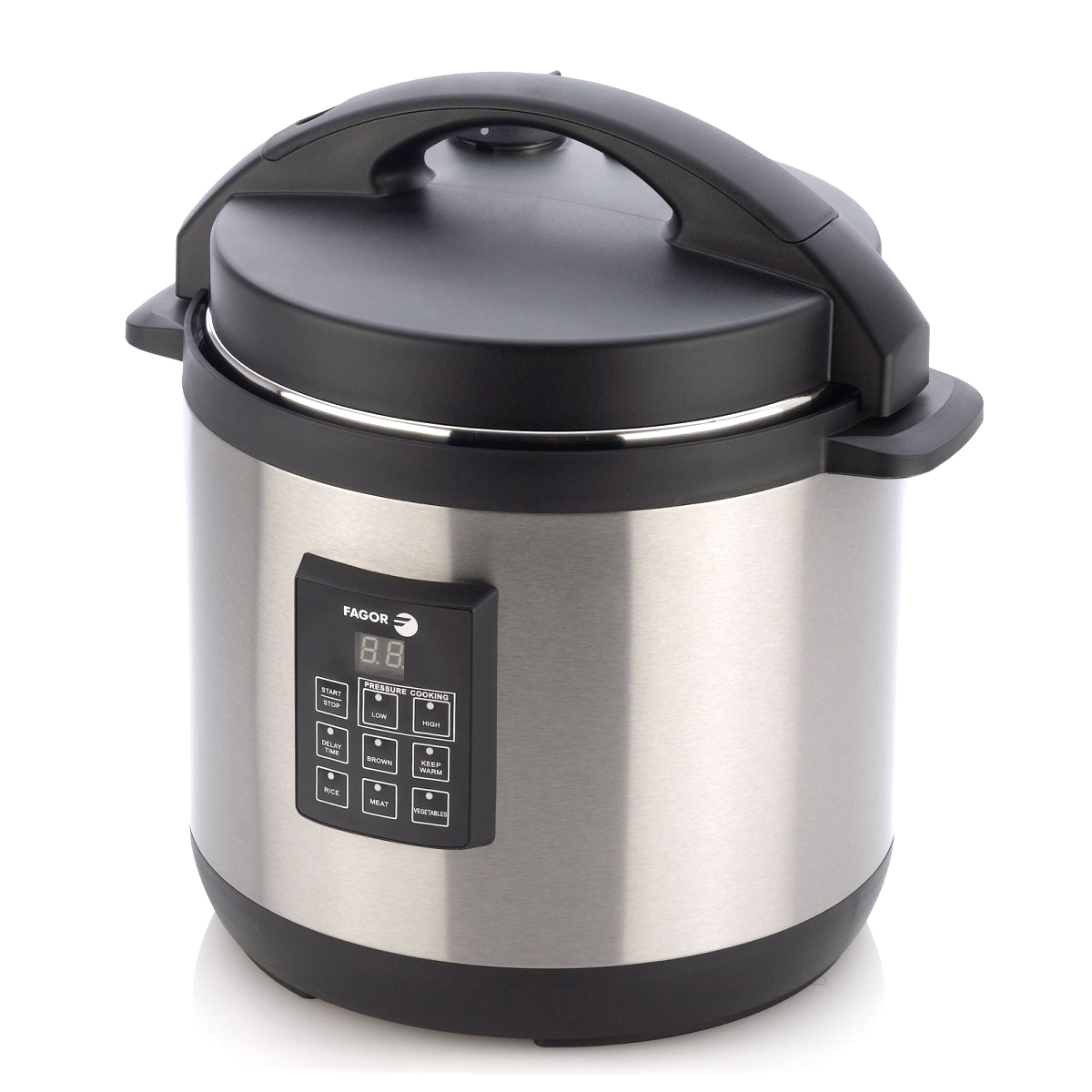 Fagor Electric Stainless Steel Pressure Cooker Plus, 6 Quart