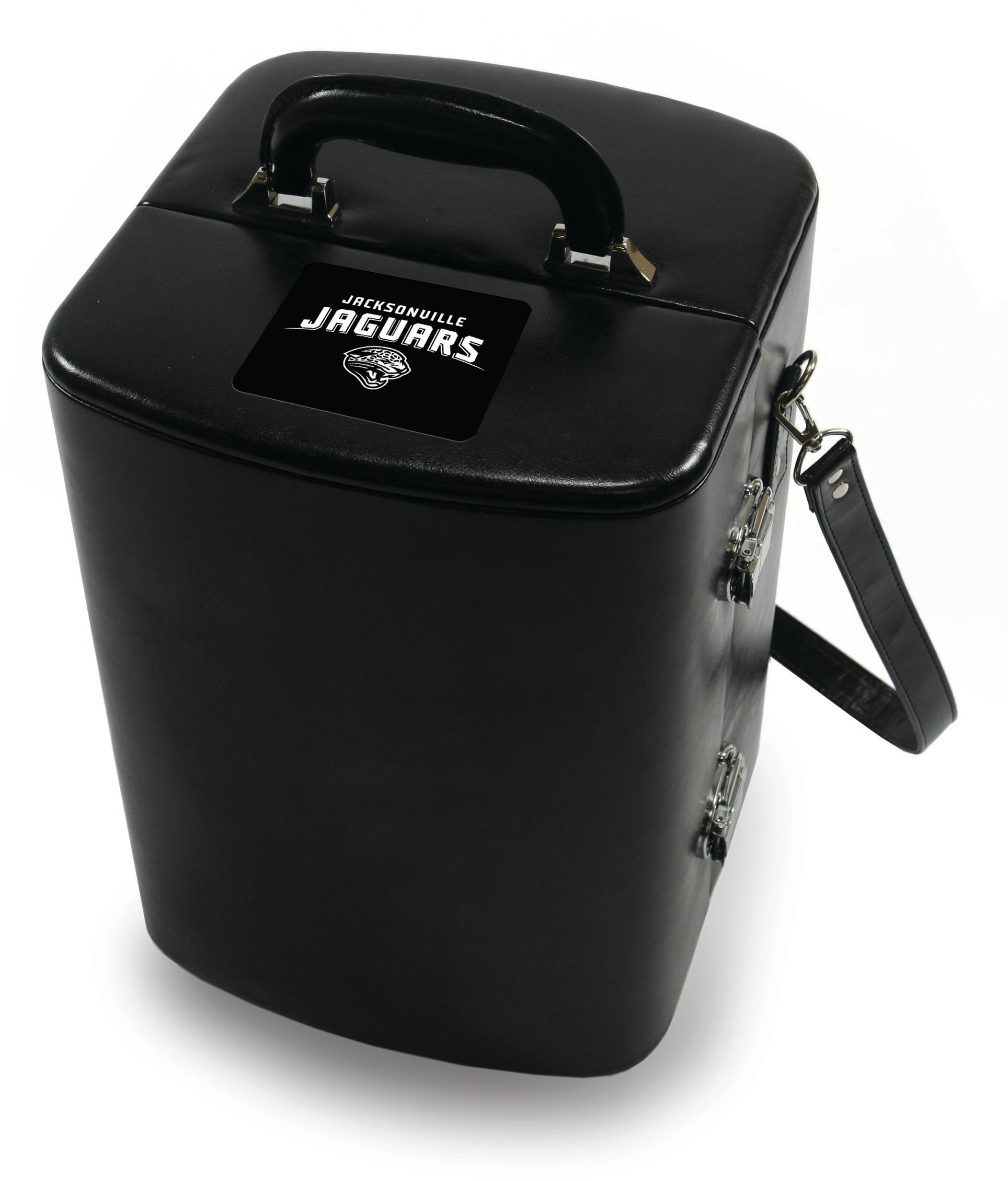 Picnic Time Legacy Black Jacksonville Jaguars Engraved Manhattan Cocktail Case