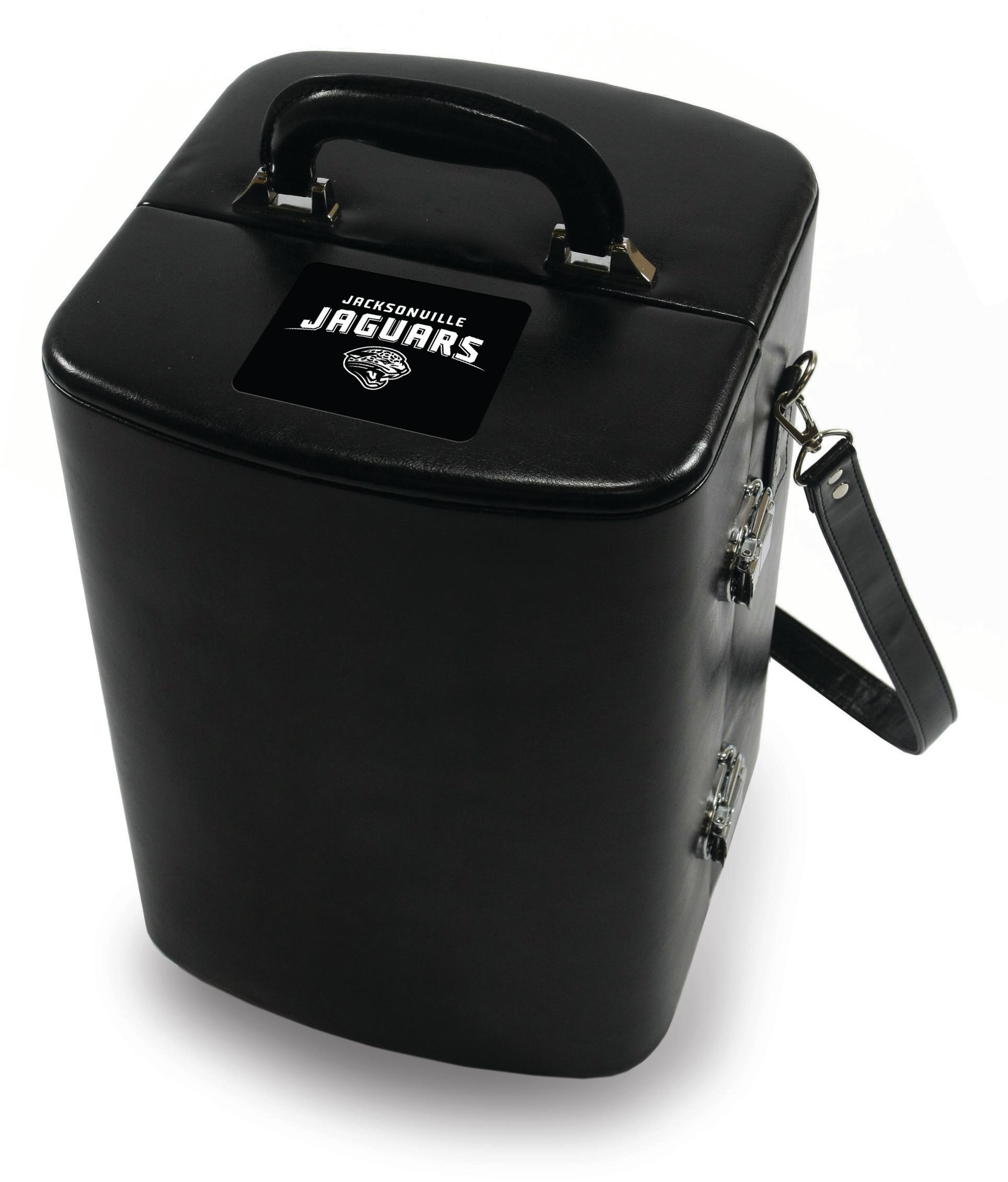 Picnic Time Legacy Black Jacksonville Jaguars Engraved Manhattan Cocktail Case