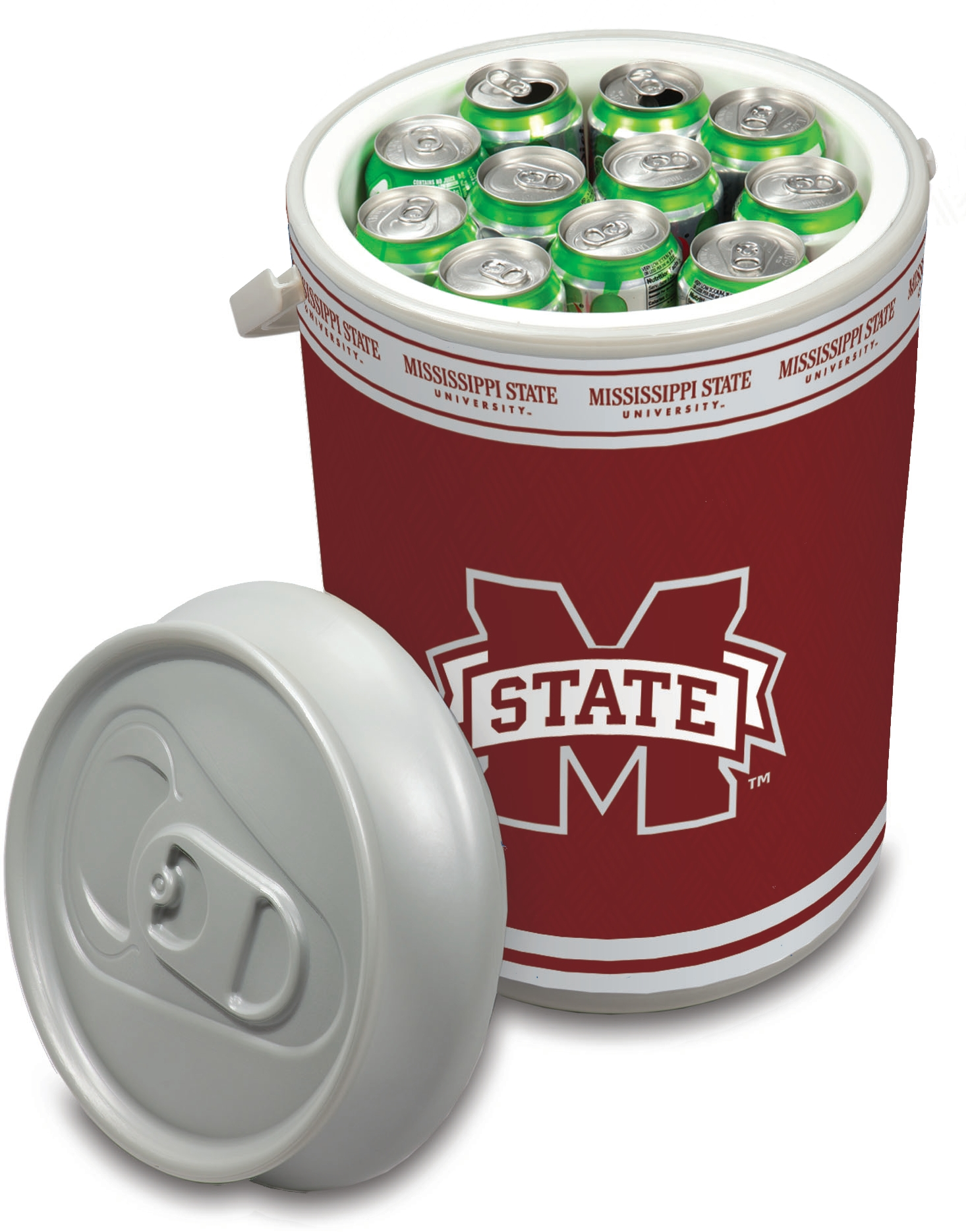Picnic Time Mississippi State University Bulldogs Mega Can NCAA Insulated Cooler, 5 Gallon