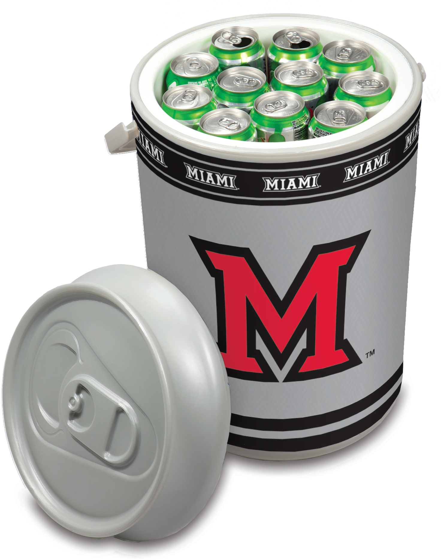 Picnic Time Miami University Redhawks Mega Can NCAA Insulated Cooler, 5 Gallon