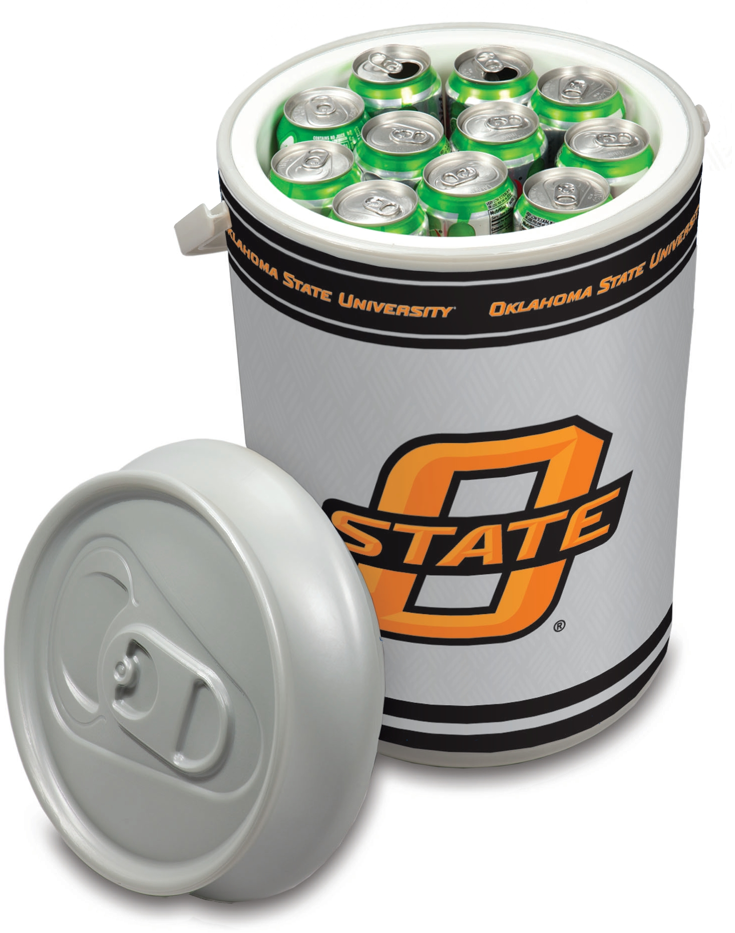 Picnic Time Oklahoma State University Cowboys Mega Can NCAA Insulated Cooler, 5 Gallon