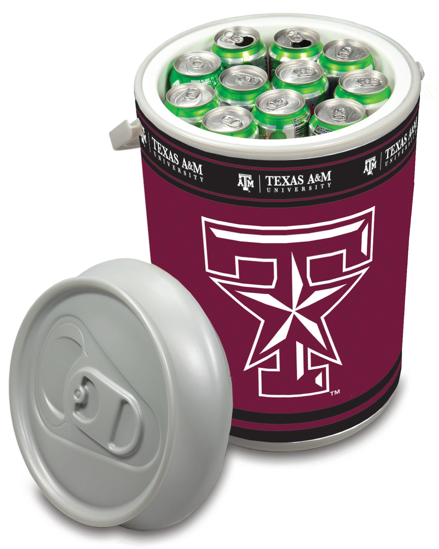 Picnic Time Texas A&M Aggies Mega Can NCAA Insulated Cooler, 5 Gallon