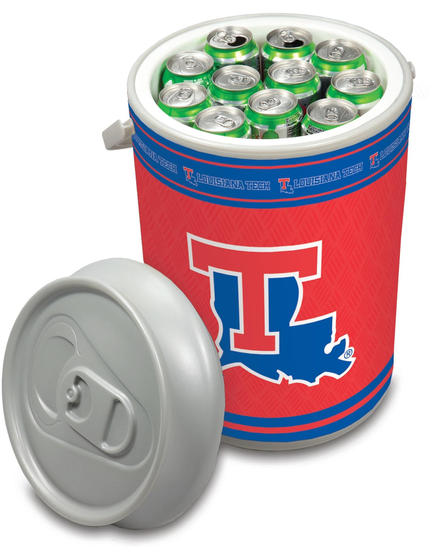 Picnic Time Louisiana Tech University Bulldogs Mega Can NCAA Insulated Cooler, 5 Gallon