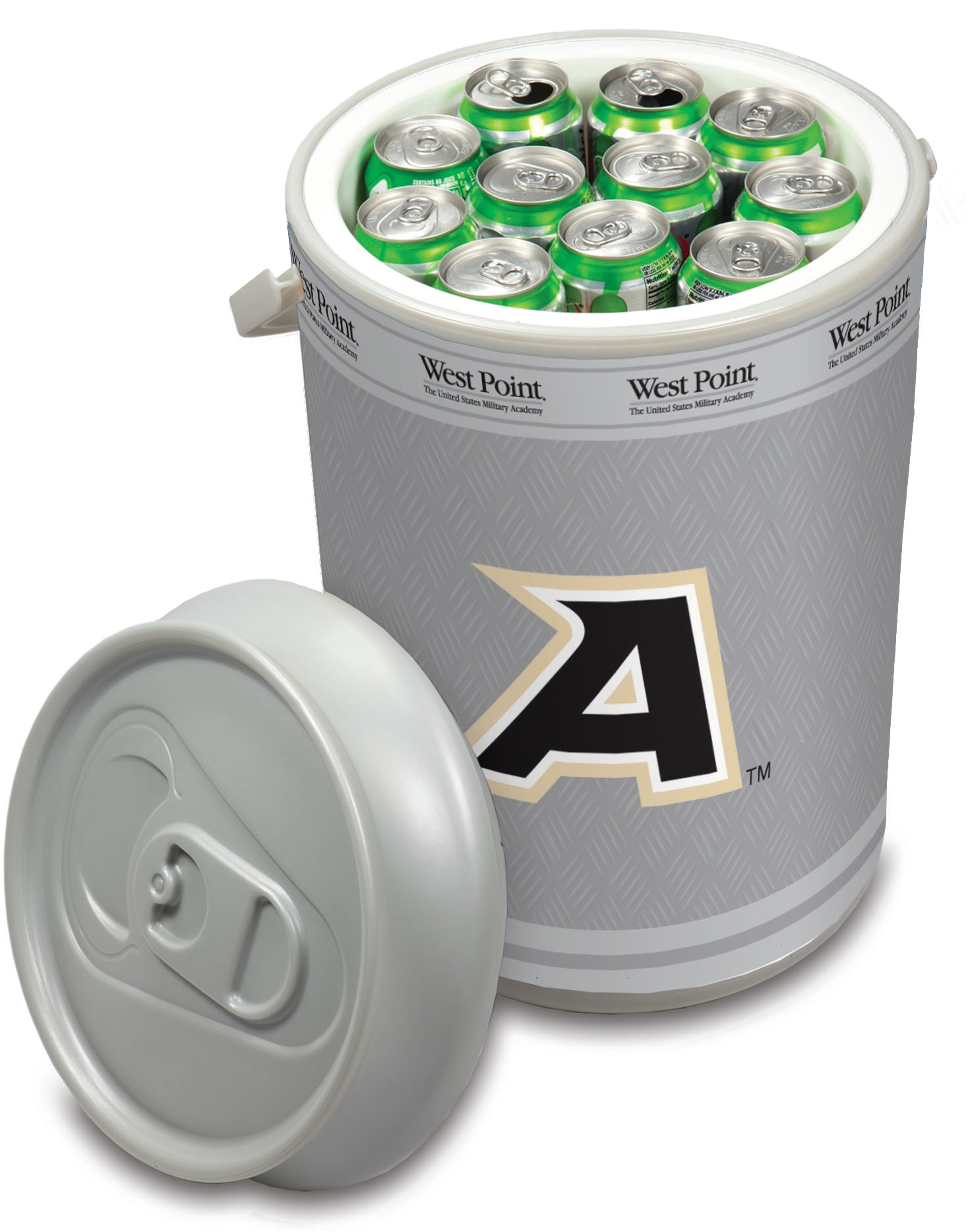 Picnic Time Army, US Military Academy Black Knights Mega Can NCAA Insulated Cooler, 5 Gallon