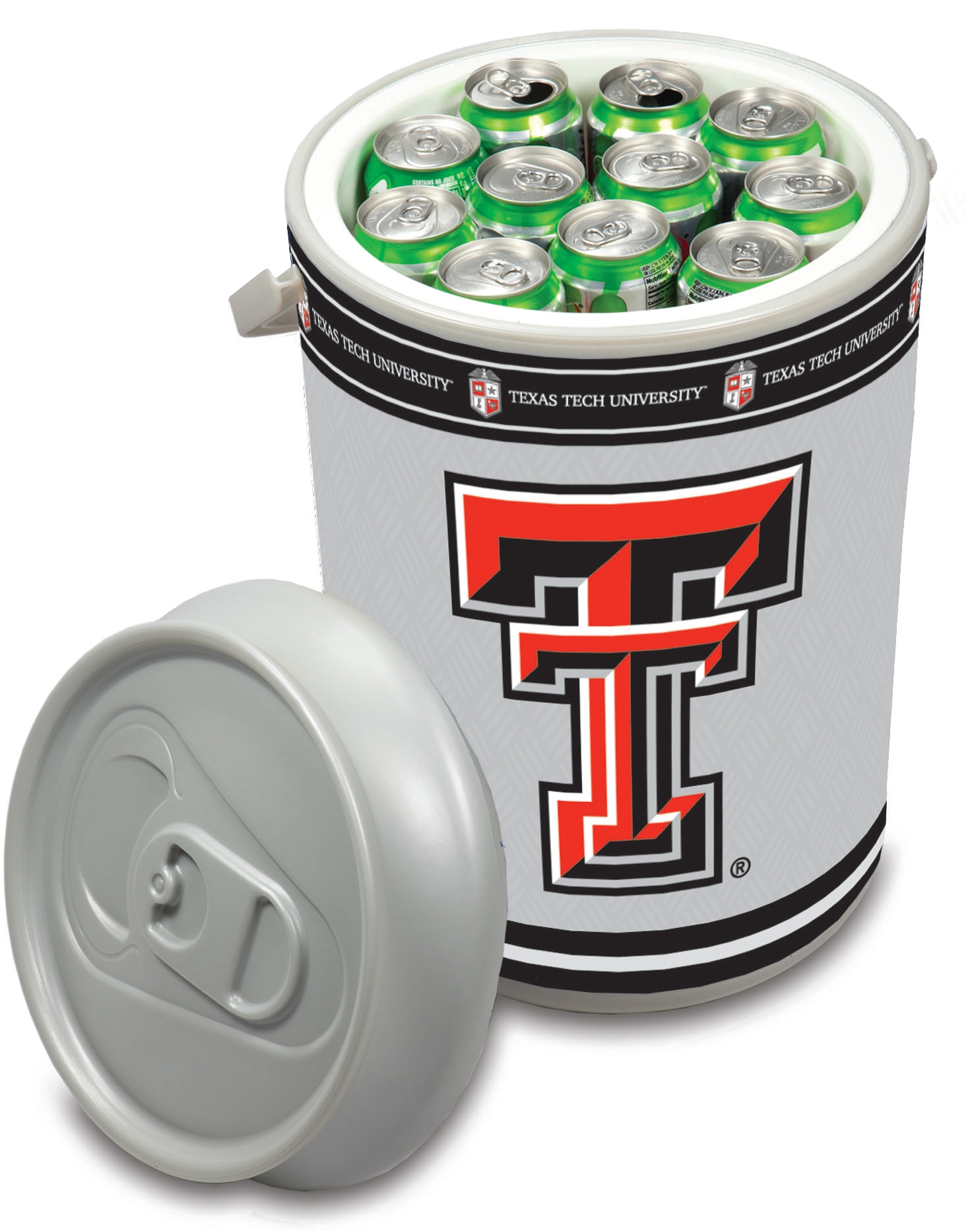 Picnic Time Texas Tech University Red Raiders Mega Can NCAA Insulated Cooler, 5 Gallon
