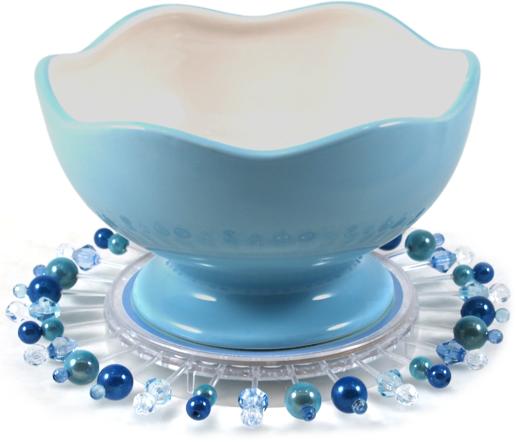 Talisman Art Deco Blue Entertaining Kit with Ceramic Bowl