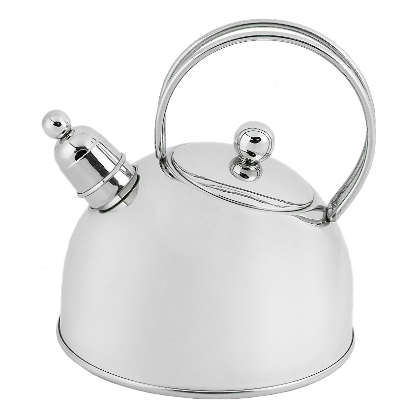 Demeyere Resto Stainless Steel Whistling Kettle, 2.6 Quart
