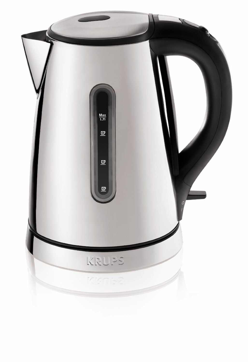 Krups Beakfast Black and Stainless Steel Kettle