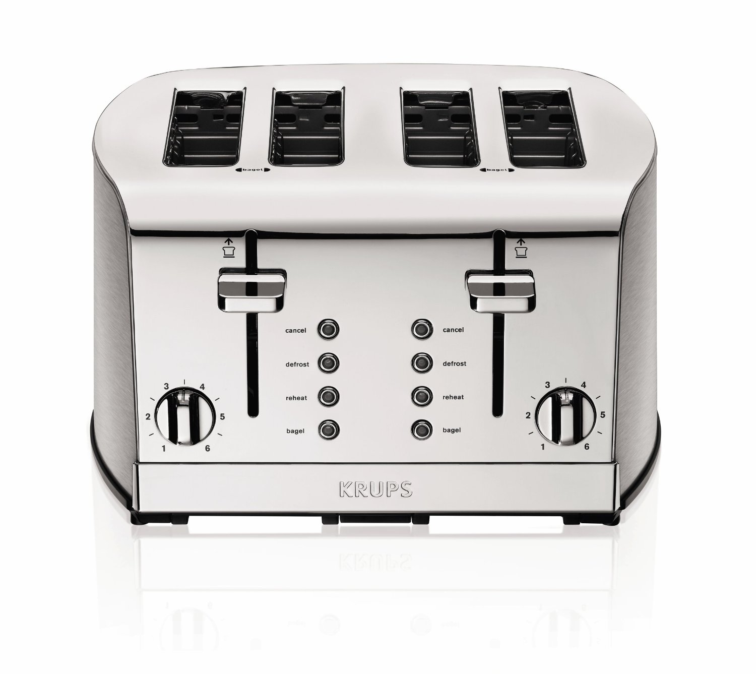 Krups Breakfast Stainless Steel 4 Slice Toaster