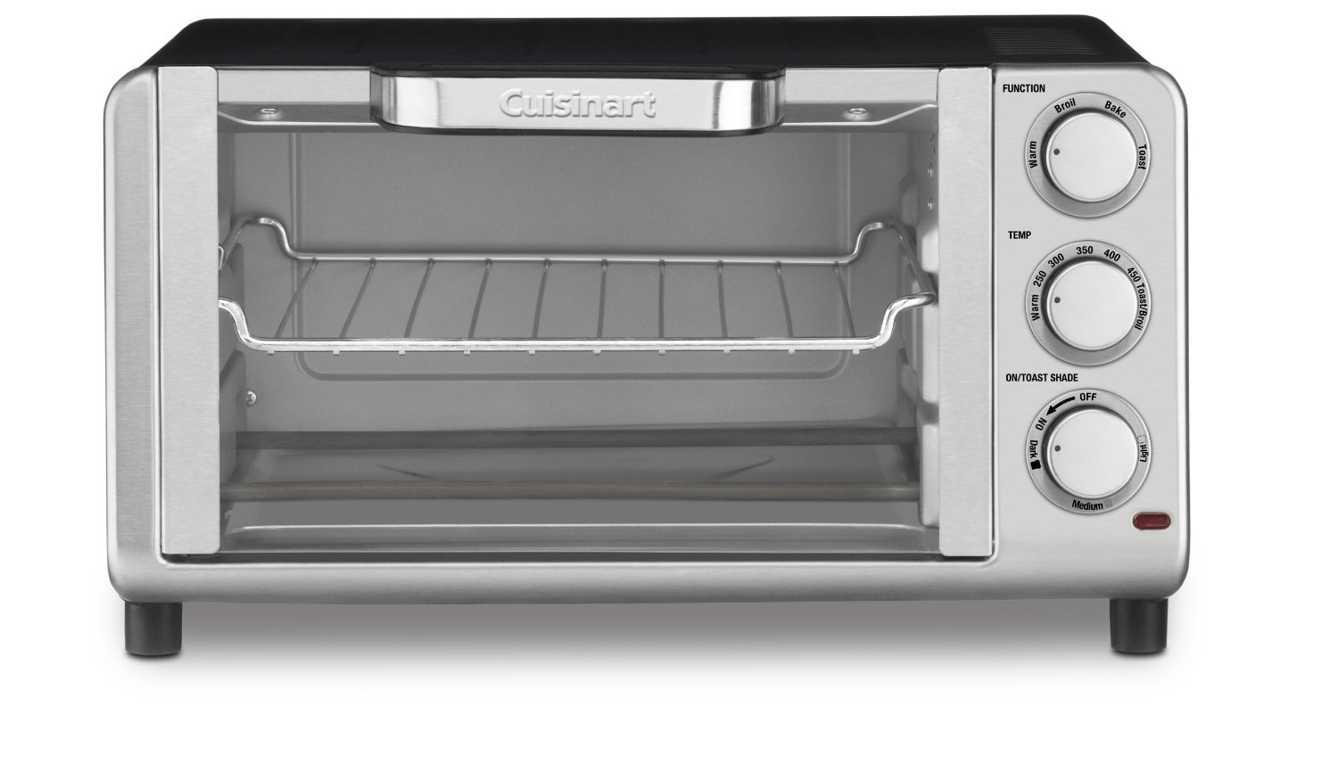 Cuisinart Stainless Steel Compact Toaster Oven Broiler with 4 Browning Levels