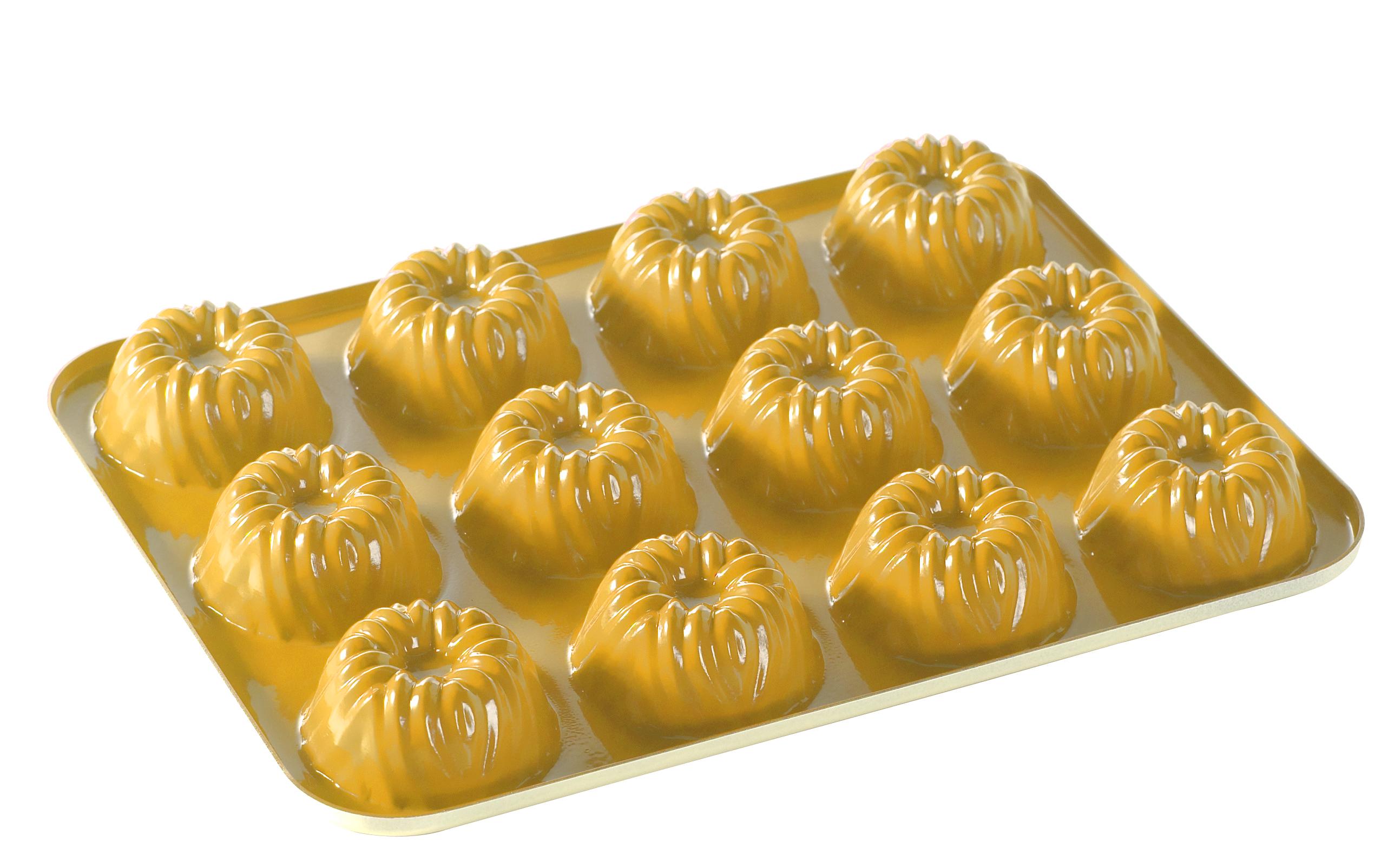 Nordic Ware Yellow Bavaria Bundt Cakelet Pan