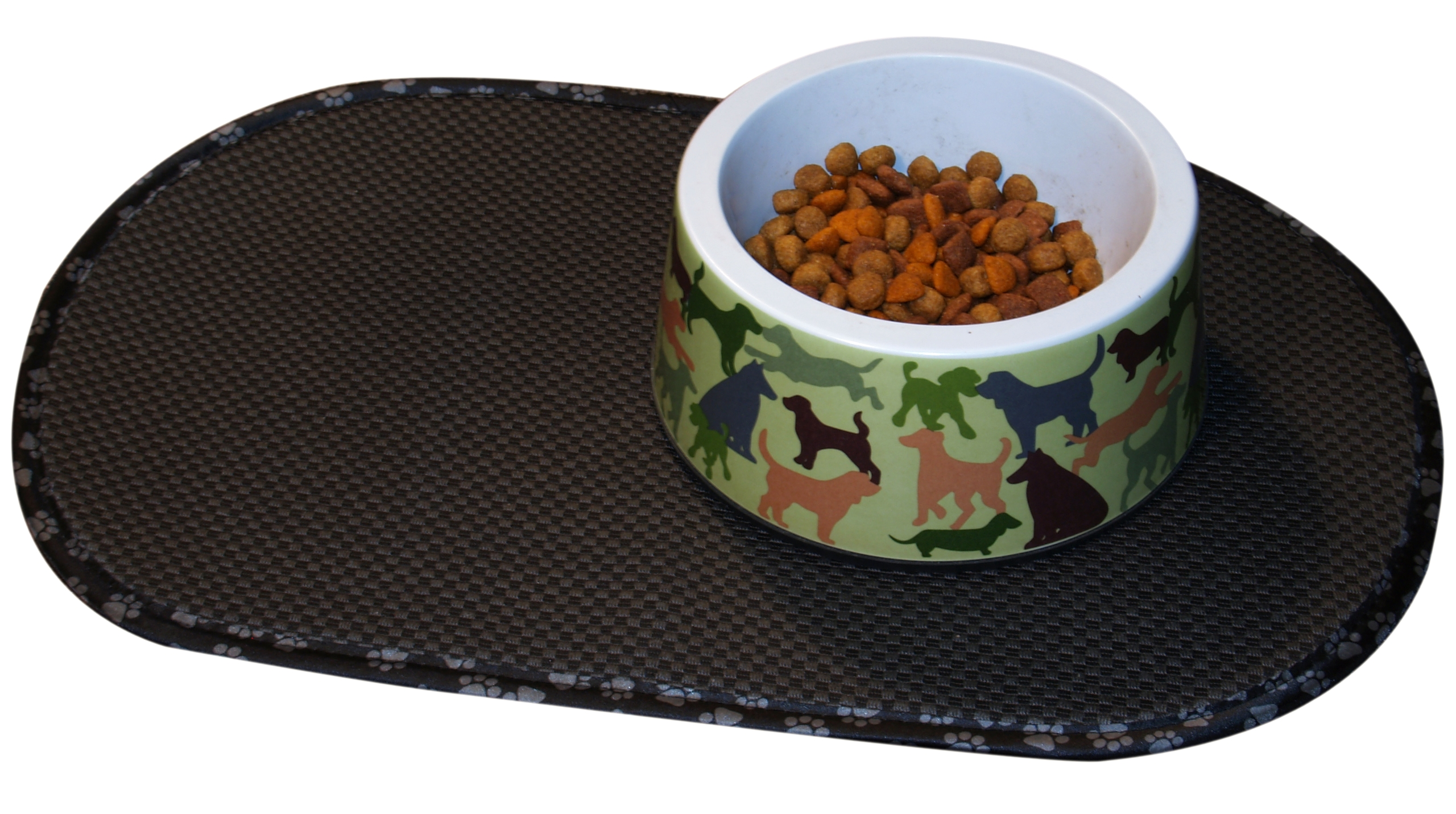 Envision Home Black Microfiber Pet Bowl Mat